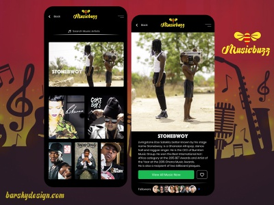 Simple Music Player Artist Info Design Concept app design appdesigner designsystem designforhire ux appdesign designer design barskydesign music art music player ui music player music