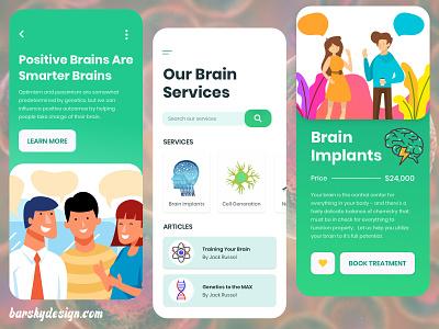 Medical Services Design Concept UI ui designsystem designforhire ux appdesign medical design medical app brainapp brain designer design barskydesign