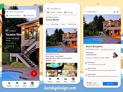 Vacation Rentals Design Concept appdesigner ui designsystem ux designforhire appdesign designer design barskydesign vacation rental vacationrental vacation