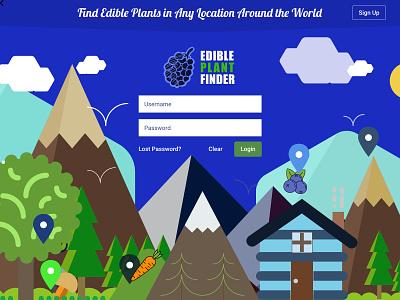 Edible Plant Finder Geo Location Design Concept ui designsystem designforhire appdesign designer design barskydesign edible veggies plants edible plant finder geolocation