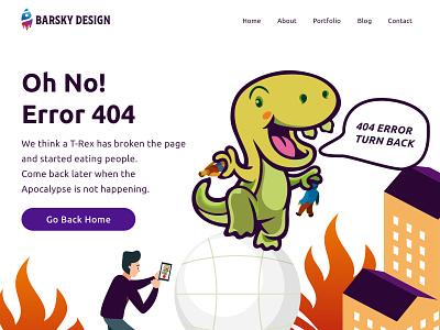 404 ERROR PAGE 404page ux ui logo illustration design designsystem designforhire appdesign designer barskydesign