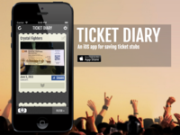 Ticket Diary Landing Page