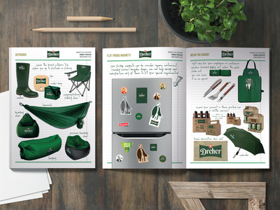 DREHER beer gift products catalogue product page catalogue design publication design typography