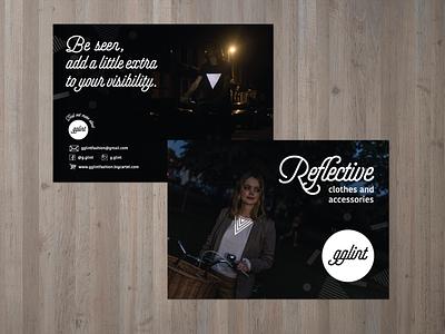 GGLINT flyer design visibility reflective flyer flyer design branding typography design