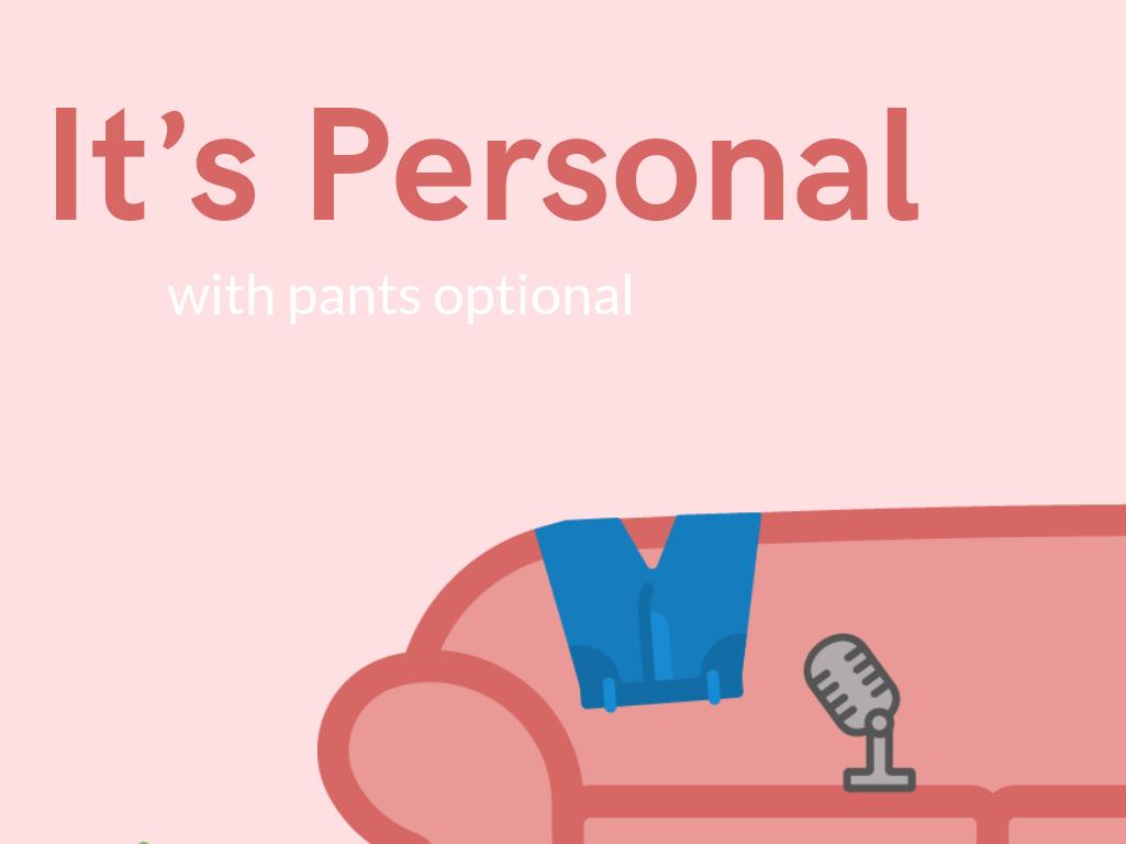 It's Personal Podcast branding illustration