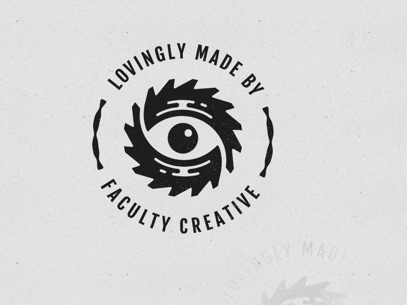 The Faculty Stamp of Approval faculty stamp logo icon brand branding eye saw blade love craft