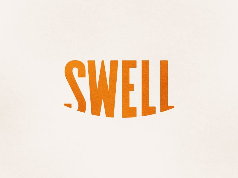 Swell swell logo brand smile happy orange good type typography