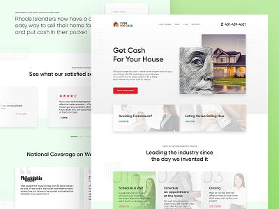 Real estate company website redesign concept finance realestate landing web designer landing page website design webdesigner webdesign ui design freelance