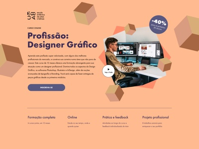 Graphic Design Course Page ux ui web design landing design landing page course landing page graphic designer graphic design course ui design uiux freelance web designer