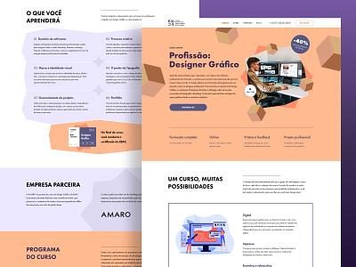 Graphic Design Course Landing Page uidesign webdesign ui  ux landing design landing web designer freelance graphic design course landing page web design ui design ui