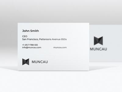 Muncau  business card businesscard blockchain art logo design branding