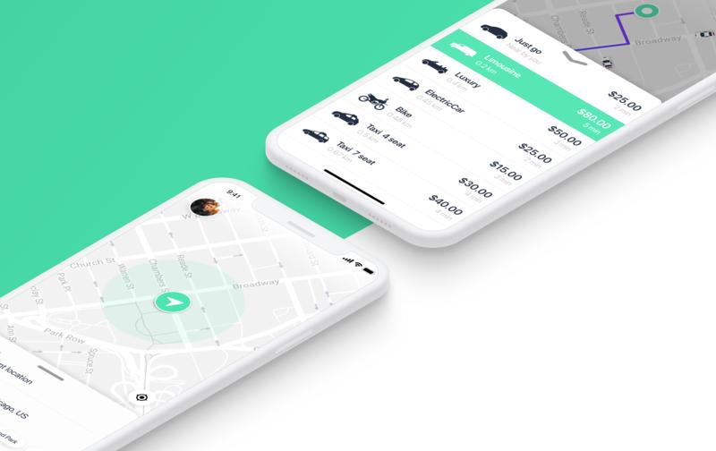 Taxify UI carsharing ios car car app app ui ux design