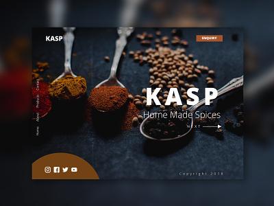 Spice Company home Page uidesign webdesign design website ui illustration