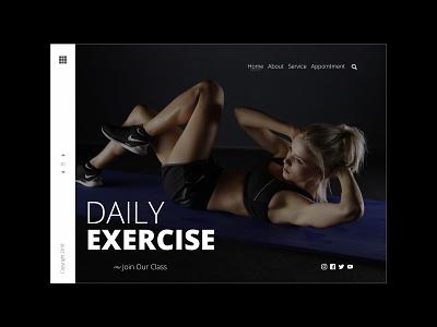 Exercise Template illustration vector animation website webdesign ux ui design