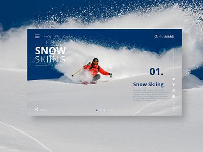 Snow Skiing Website web type logo vector website ux animation uidesign illustration ui webdesign design