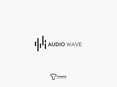 Audio wave logo minimal logographic logodesign logo graphics