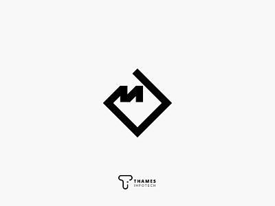 Typographic M Logo Concept lo logo 3d logo a day logo 2d logo alphabet icon branding graphics vector typography illustration logodesign logo