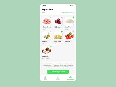Leftover Ingredients Recipe Suggestion figmadesign figma clean minimal dailyui modern recipe simple mobile uidesign design ui