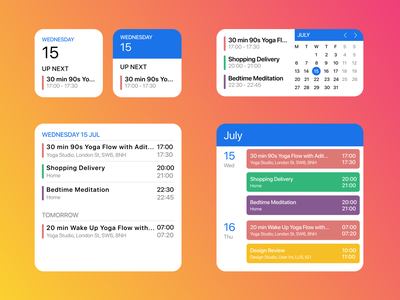 Daily UI 38 - Calendar Widgets ios calendar ui calendar design calendarwidget widget widgets calendar figma figmadesign dailyuichallenge dailyui minimal modern simple clean design uidesign ui