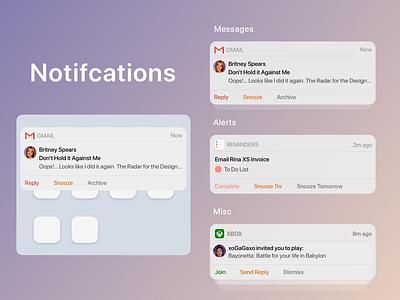 Notifications organised interactions dailyui49 dailyuichallenge sketchapp sketch dailyui simple mobile clean design ui uidesign notifications