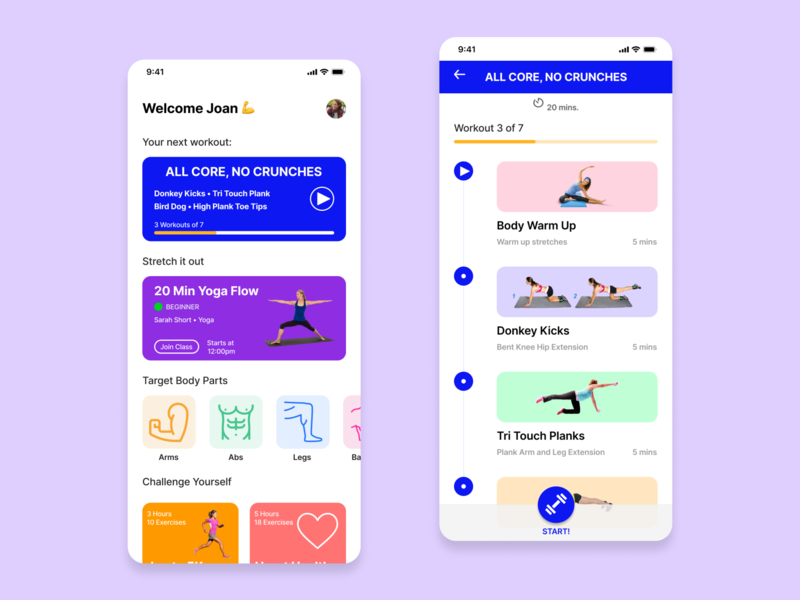 Daily UI 62 - Workout dailyui62 figmadesign colourful bold minimal modern uidesign ui clean mobile fitness workout dailyui figma
