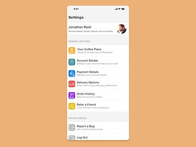 Daily UI 007 - Settings sketchapp settings simple clean interface simple minimal sketch uidesign ui dailyui dailyui007