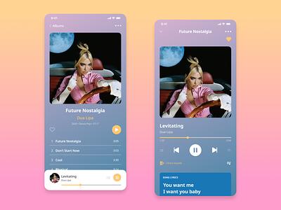 Daily UI 009 - Music Player dailyuichallenge ui modern simple figmadesign mobile player musicplayer music figma designchallenge dailyui dailyui009