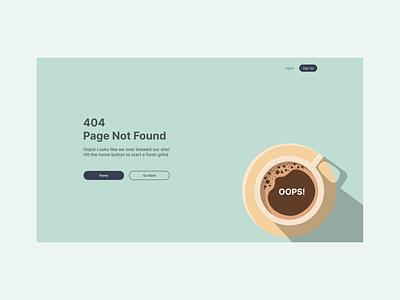 Daily UI 008 - 404 Page dailyuichallenge dailyui008 clean figmadesign figma simple 404 error 404page error 404 error desktop design desktop dailyui ui uidesign