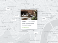 Hotel search map