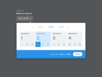 Month / Quarter selector