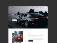 Car Showcase Website Concept