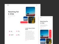Broadcasting Website Light Mode Concept
