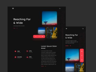 Broadcasting Website Dark Mode Concept