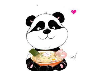 Panda with Ramen