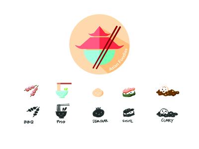 Asian Foodies App Logo & Icon Set