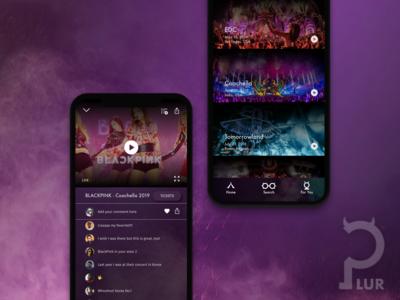 PLUR Music Festival Video App 🤘