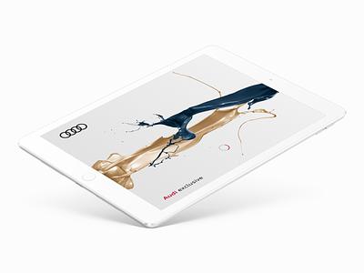 Audi exclusive – Splash Screen ui ux design exclusive loading page splash screen app ipad audi