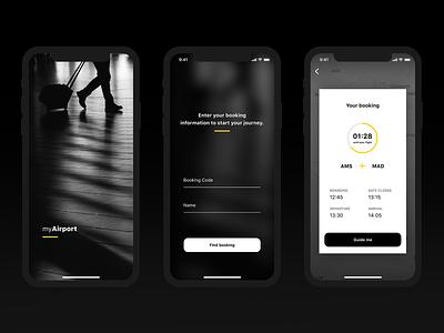 Airport Navigation App Concept 1 (Figma) mobile interaction design maps design tool ios app navigation airport figma ux  ui ux