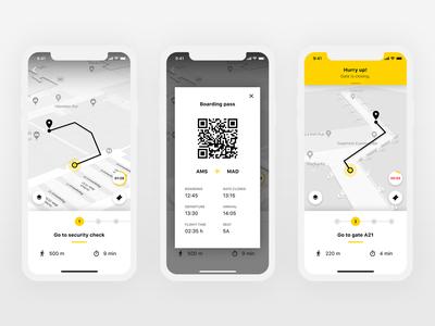 Airport Navigation App Concept 2 (Figma) navigation boarding maps gate airport ios design app mobile design tool figma ux  ui ux