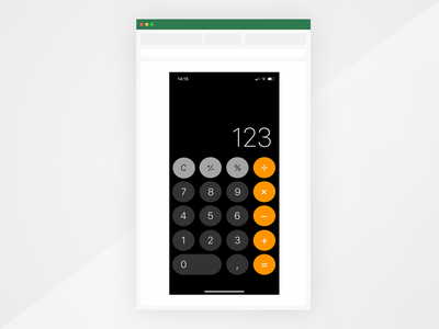 Another fancy new design tool. Made with MS Excel. design microsoft office ios challenge ui excel tool