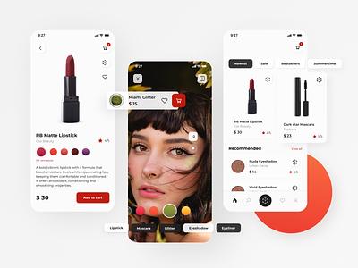 AR Cosmetic Store - concept app ar ui ux design augmented reality concept app cosmetic store beauty app beauty