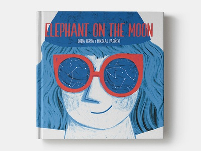 Elephant on the moon design typography cover book book