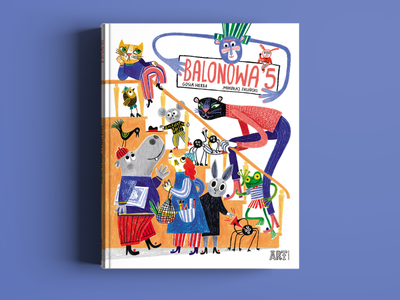 Balonowa 5 book cover illustration typography cover book book
