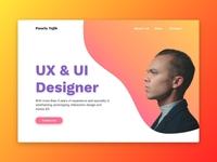 UX & UI designer portfolio website