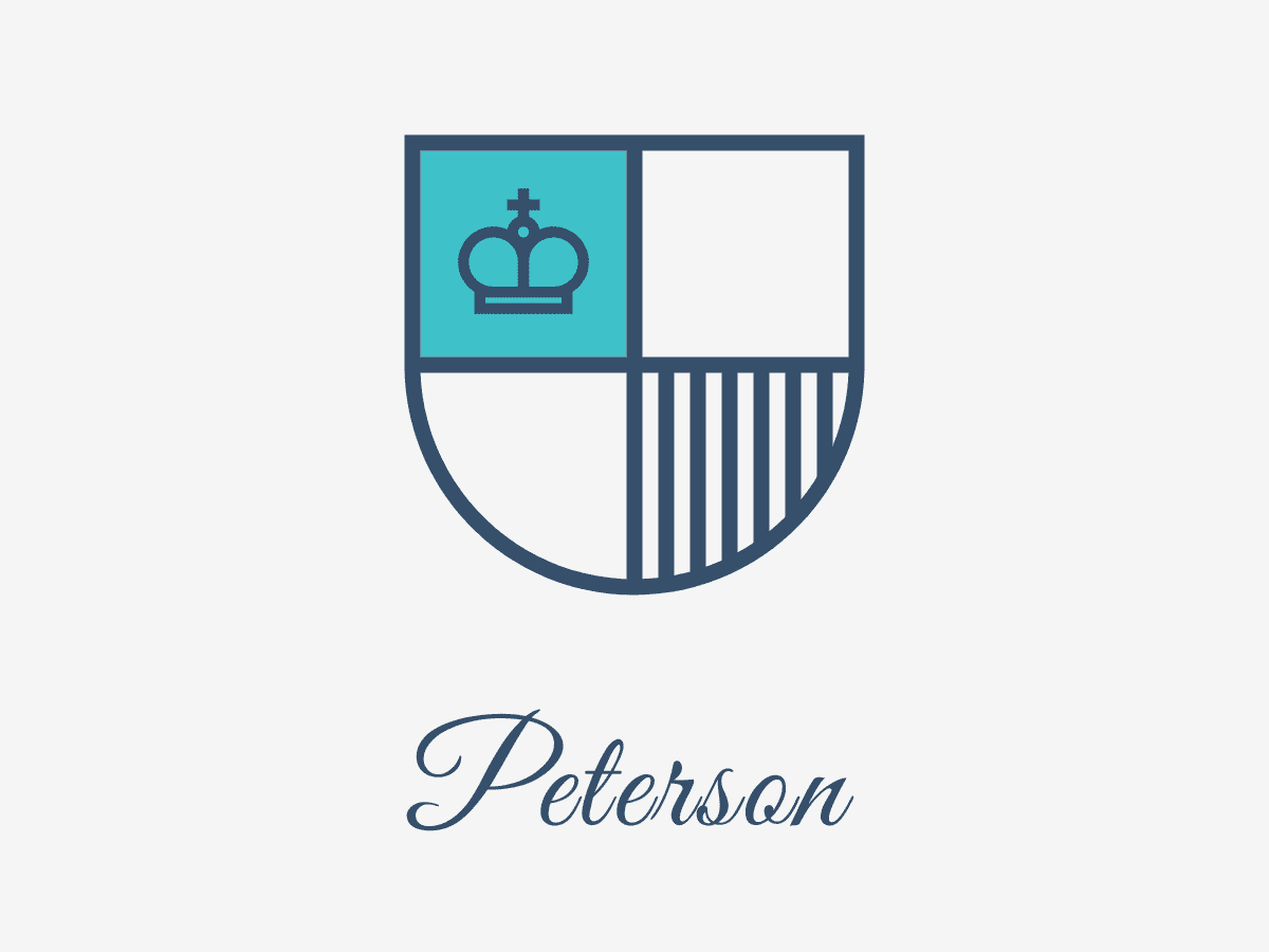 Peterson Logo : Concept illustration logo clothing company suit branding vector icon typography ui color clean design