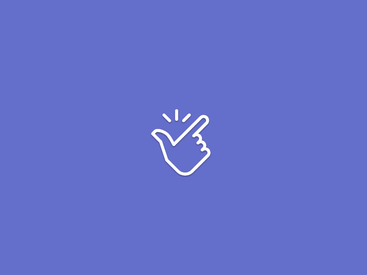 "Trigger Finger- ""Like"" Button Thumb Snap branding typography ui color icon microinteraction clean design"