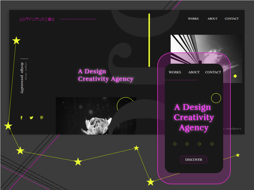Art Futurism Figma best minimal vector illustrator logo icon ios website color work web ux ui app trend new modern minimalism design art