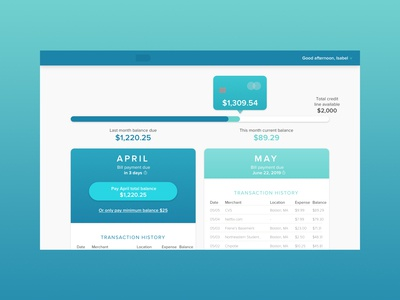 Billing and Payment Dashboard