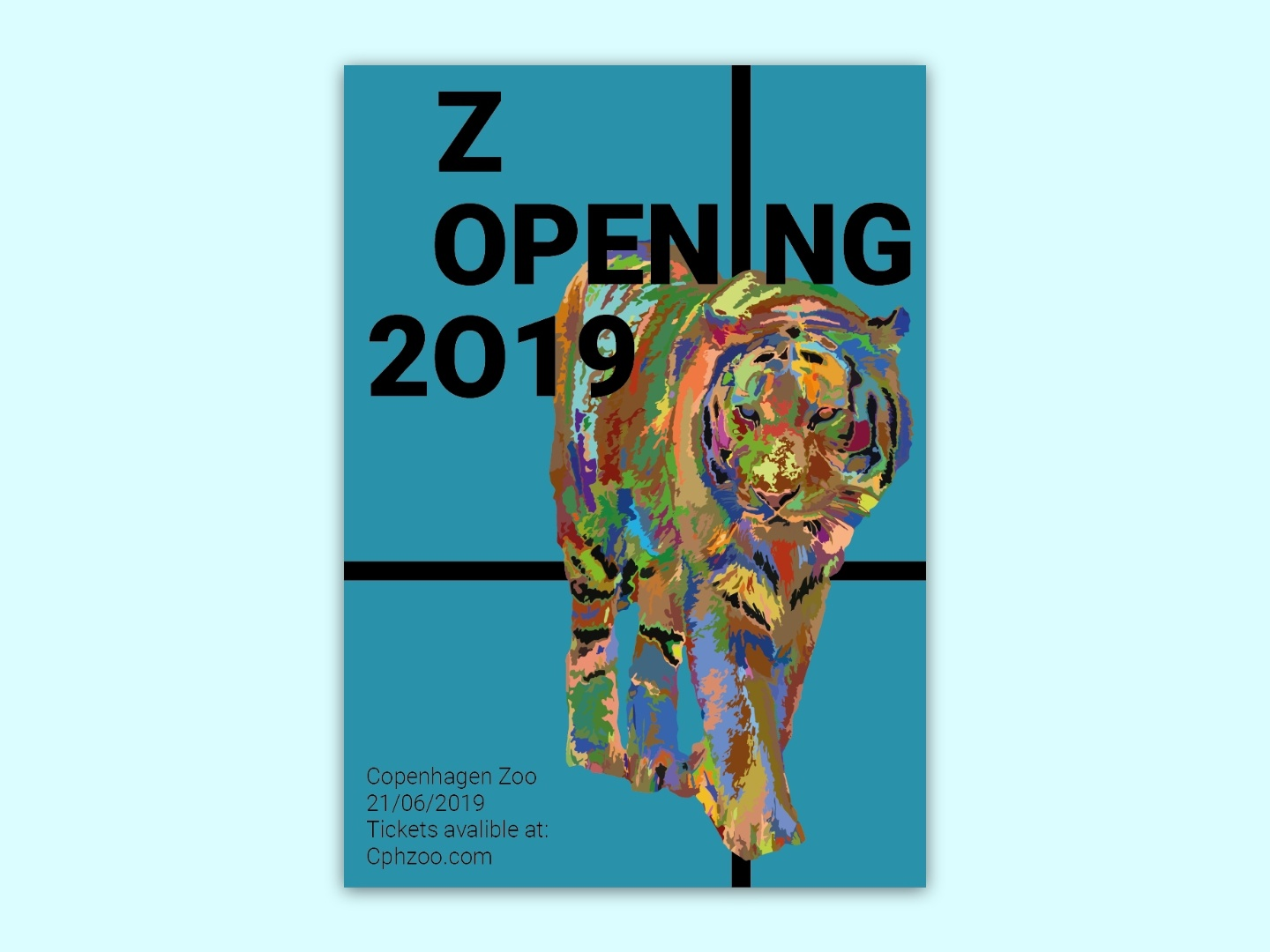 Zoo Opening Poster 2019 poster design branding zoo printing design print design animal advertisement ad poster art poster