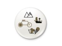 City Pin Button